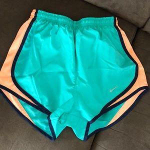 Nike women's neon blue running shorts
